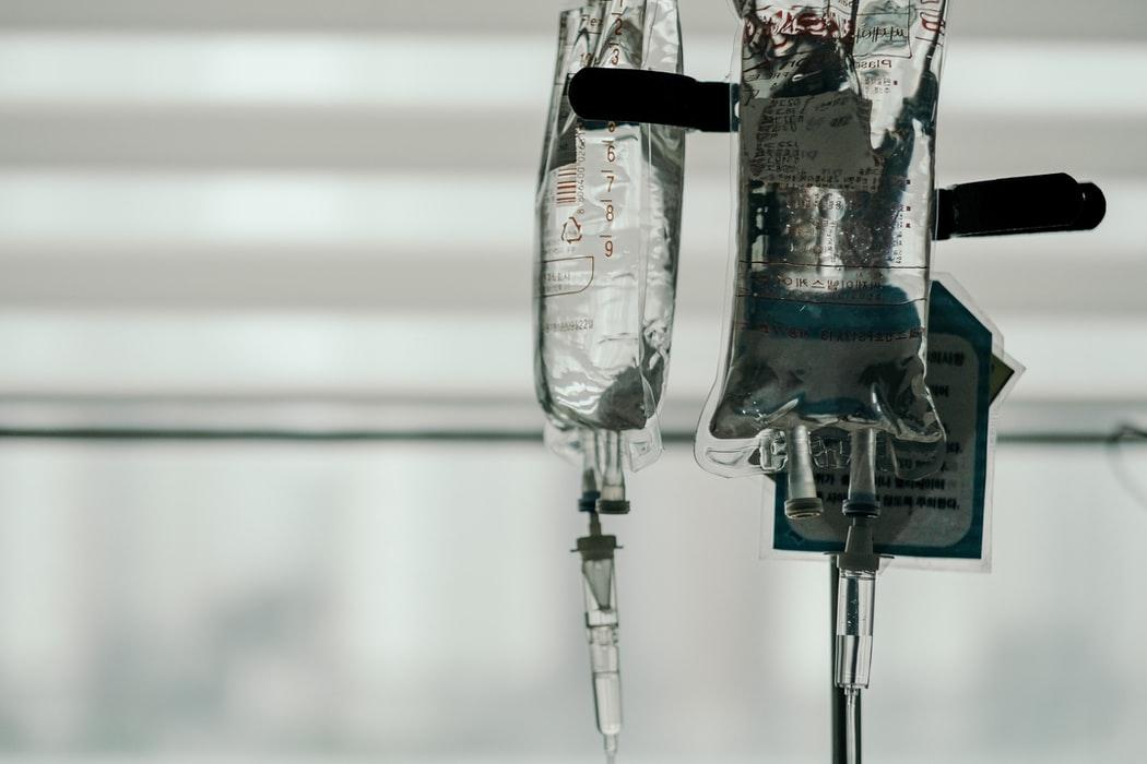 IV solution bag